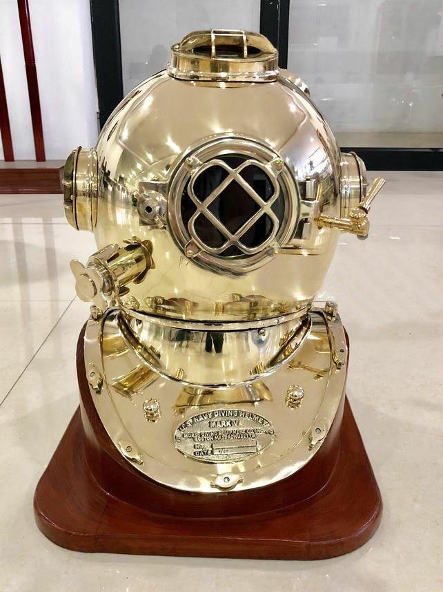 US Navy Mark V Boston Dive Helmet Antique Diving Divers