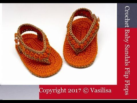 Diy Crochet Baby Sandals Flip Flopsvasilisa Youtube Baby