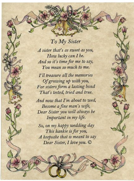 A Poem About Sister Love Love You Sister Poems I Love You Sister