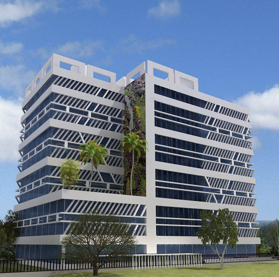 3d Building Elevation 3d Front Elevation: 3D Front Elevation.com: 3D Commercial Plaza & Tower Front