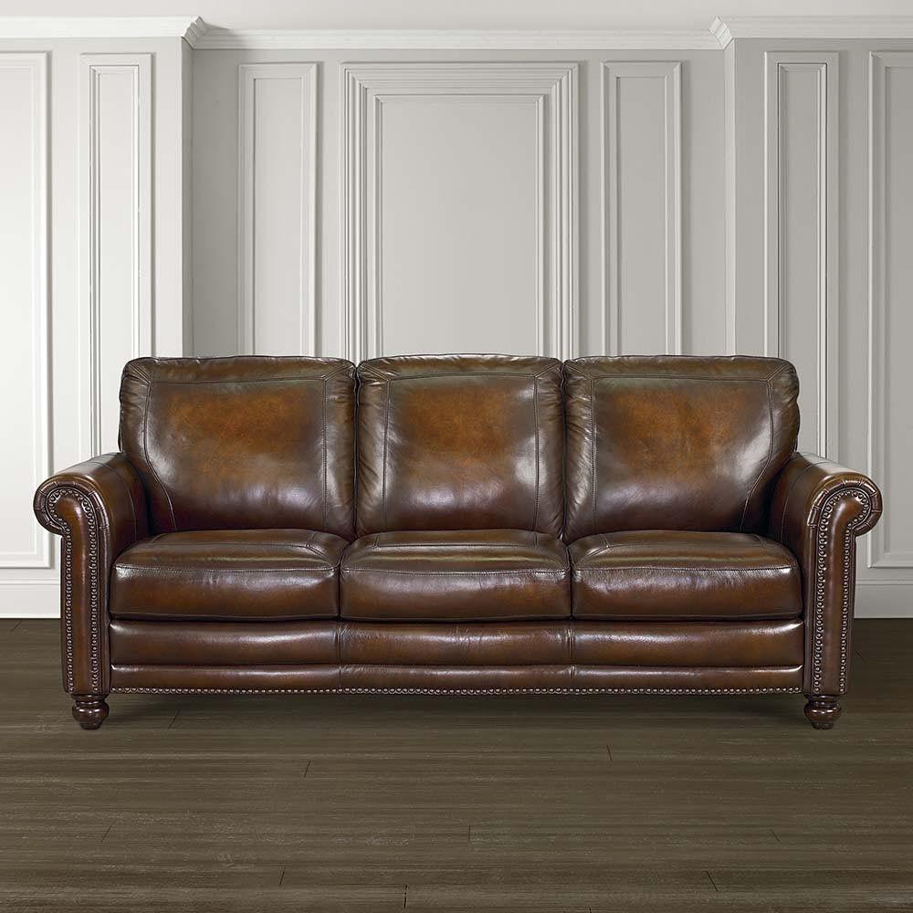 Bassett Leather Couch Pinterest