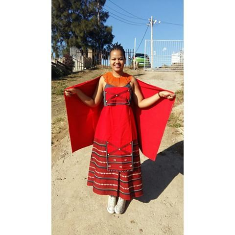 Image result for red and black umbhaco | Clothing | Pinterest | Africans Xhosa and African fashion
