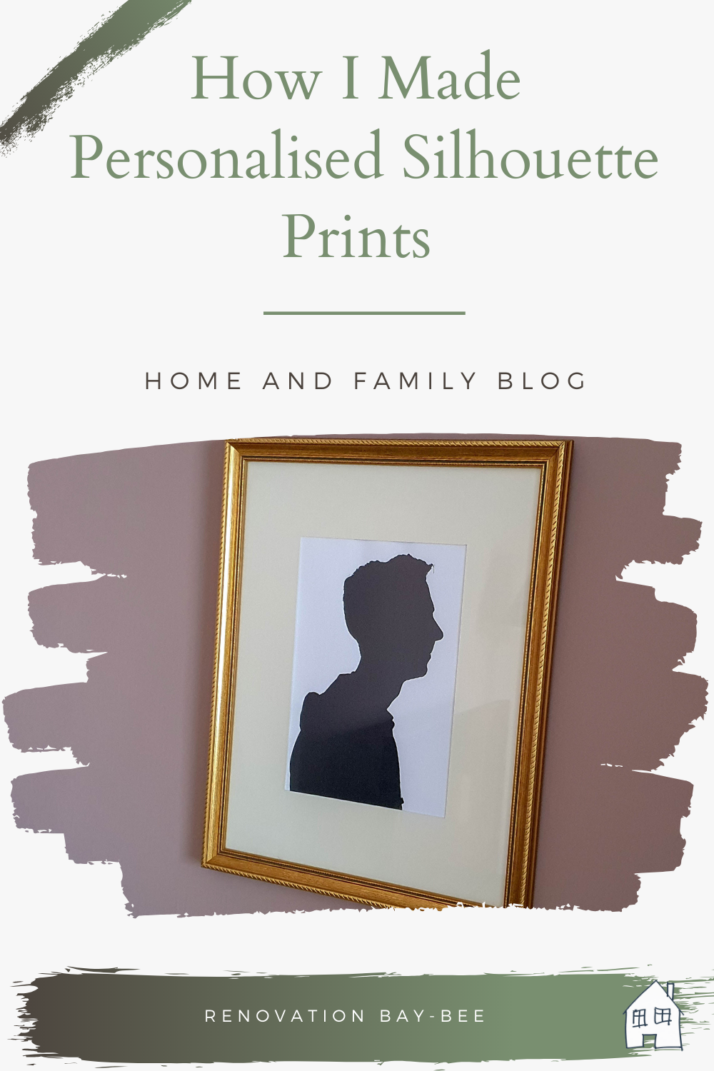 How To Make Personalised Silhouette Prints. I wanted a piece of personalised wall art on my wall in the lounge, so I made Personalised Silhouette Prints. Click through to see how I made our Personalised Silhouette Prints #PersonalisedSilhouettePrints #SilhouettePrints #personalisedwallart #wallart #Silhouetteart