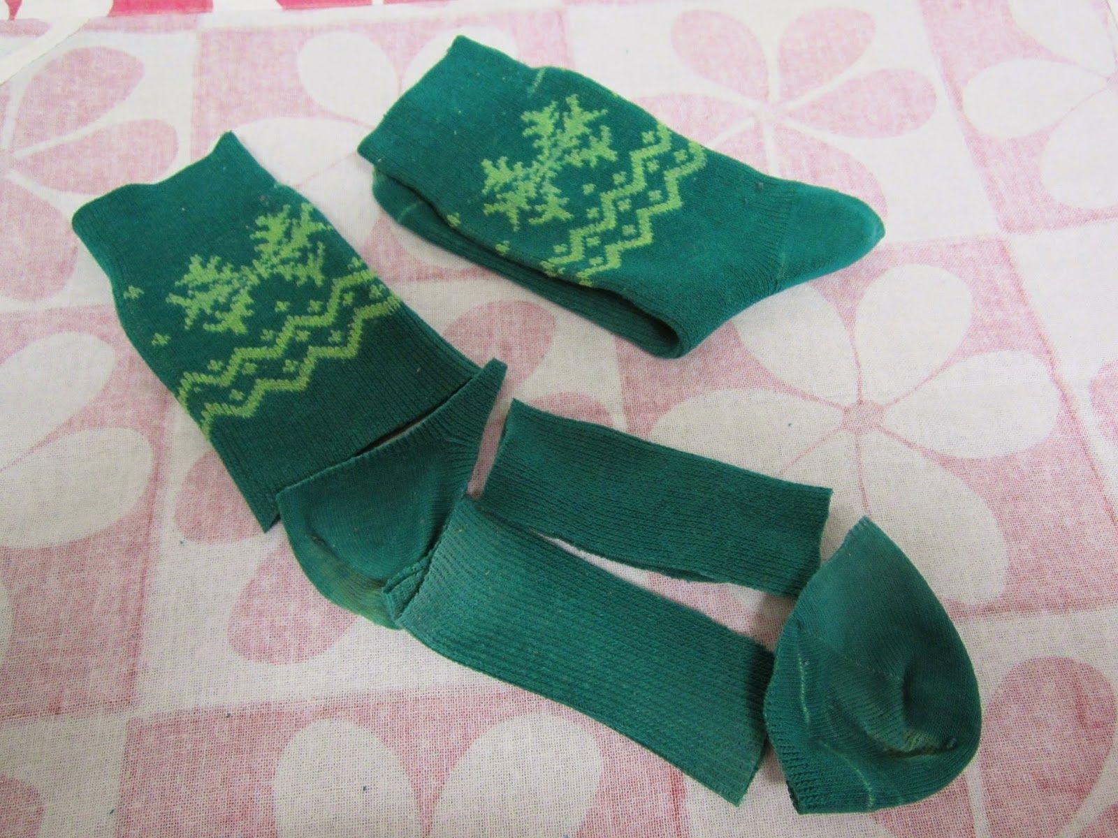 De calcetines viejos a jersey para la Nancy con gorrito a juego #bedfalls62