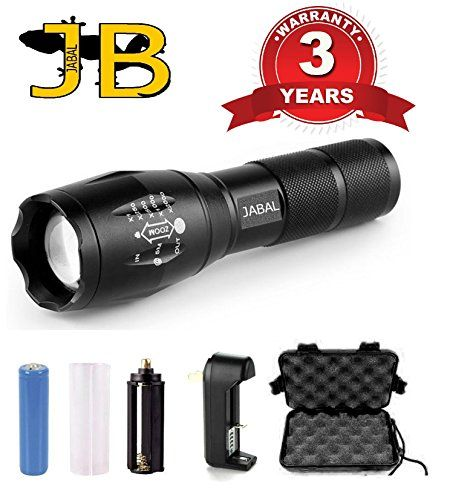 Jabal Led Rechargable Torch 1000 Lumen Tactical Brightest