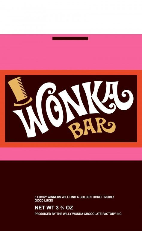 Wonka Bar Wrapper Charlie And The Chocolate Factory Willy Wonka