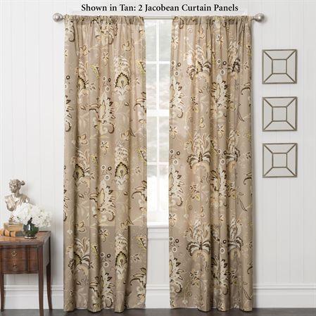 Zara Jacobean Energy Efficient Curtain Panels