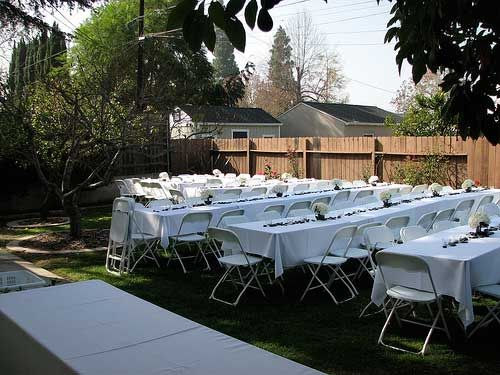 Small Wedding Ideas Home Wedding Receptions Small Backyard
