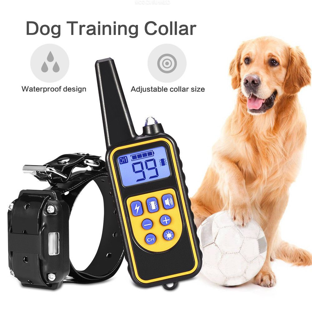 Ipets 2624ft Remote Dog Shock Collar Rechargeable Waterproof Dog