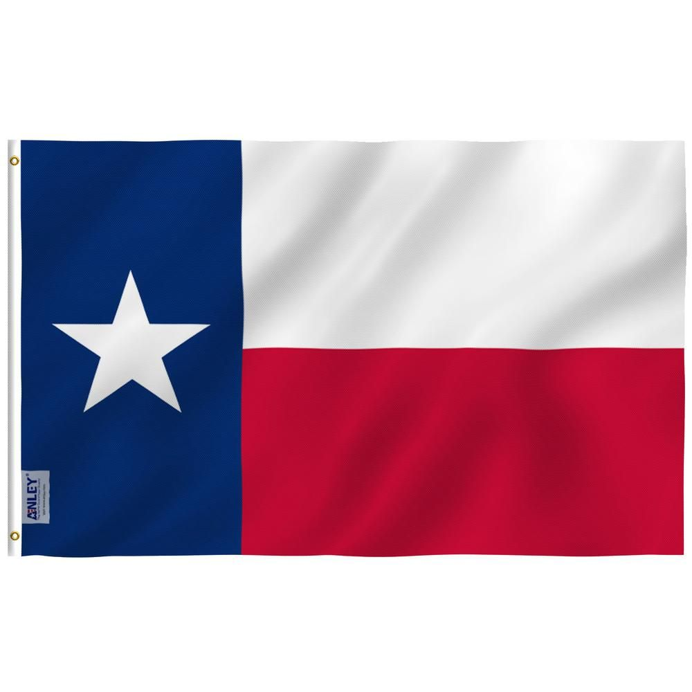 Anley Fly Breeze 4 Ft X 6 Ft Polyester State Texas Flag 2 Sided Flags Banner With Brass Grommets And Canvas H A Flag Statetexas 4x6ft The Home Depot In 2020 Texas Flags Texas State