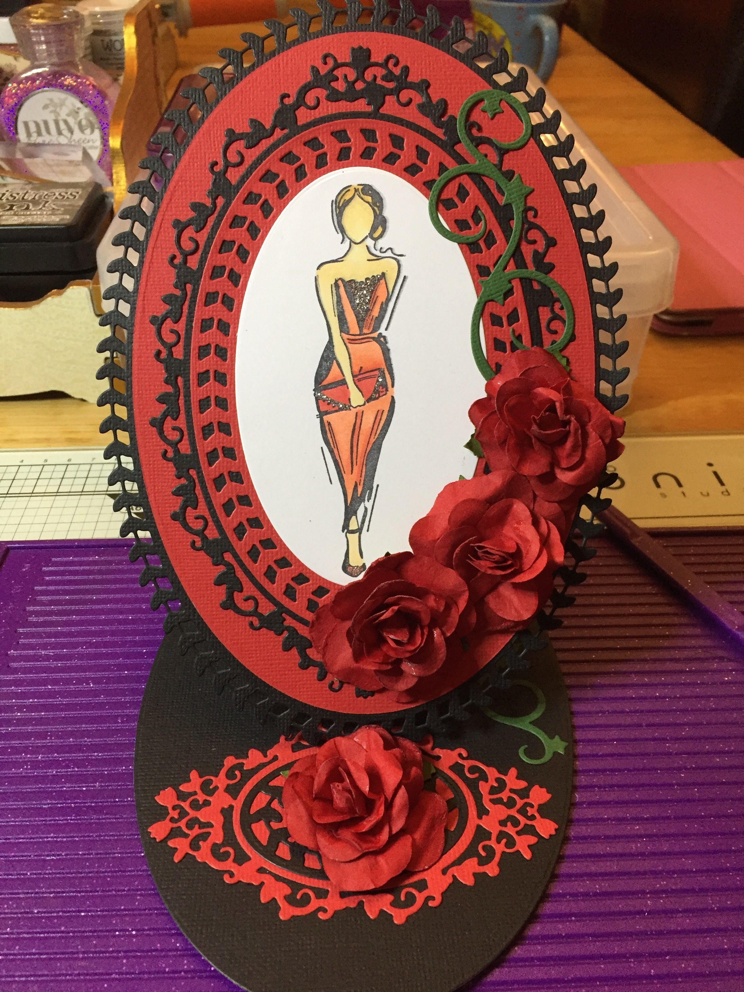 Made by Natalie Gallagher - I made this card using all things Tonic. The exquisite lady stamp, tonics Fabulous card stock and dies. Can you tell that tonic is my favourite brand. I hoe you enjoy my card