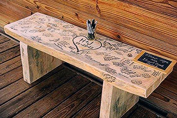 Photo of Guest Book Wedding Bench (3 foot) -FREE SHIPPING