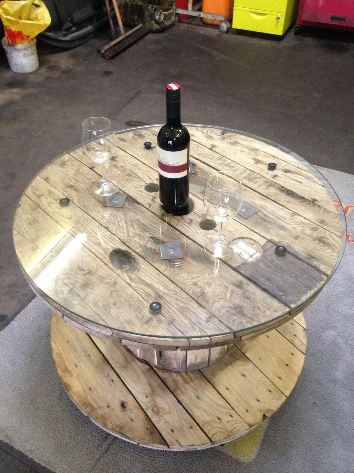 Kabeltrommel tisch tr delmarkt pinterest - Tisch kabeltrommel ...