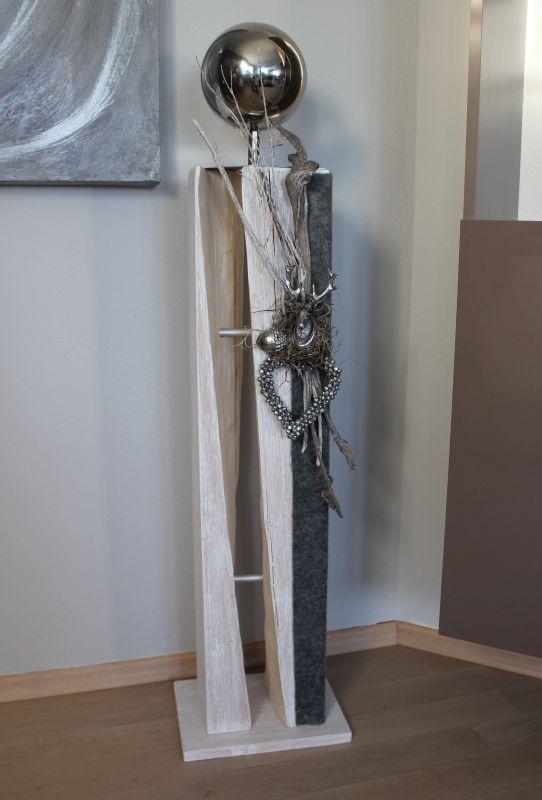 gs63 dekos ule f r innen und aussen gro e gespaltene s ule aus neuem holz wei gebeizt. Black Bedroom Furniture Sets. Home Design Ideas