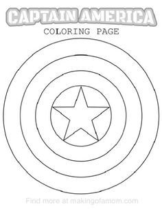 captain america shield coloring page # 5
