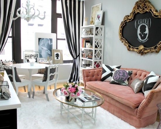 Girly Apartment Decor Design, Pictures, Remodel, Decor and Ideas - wohnzimmer deko design
