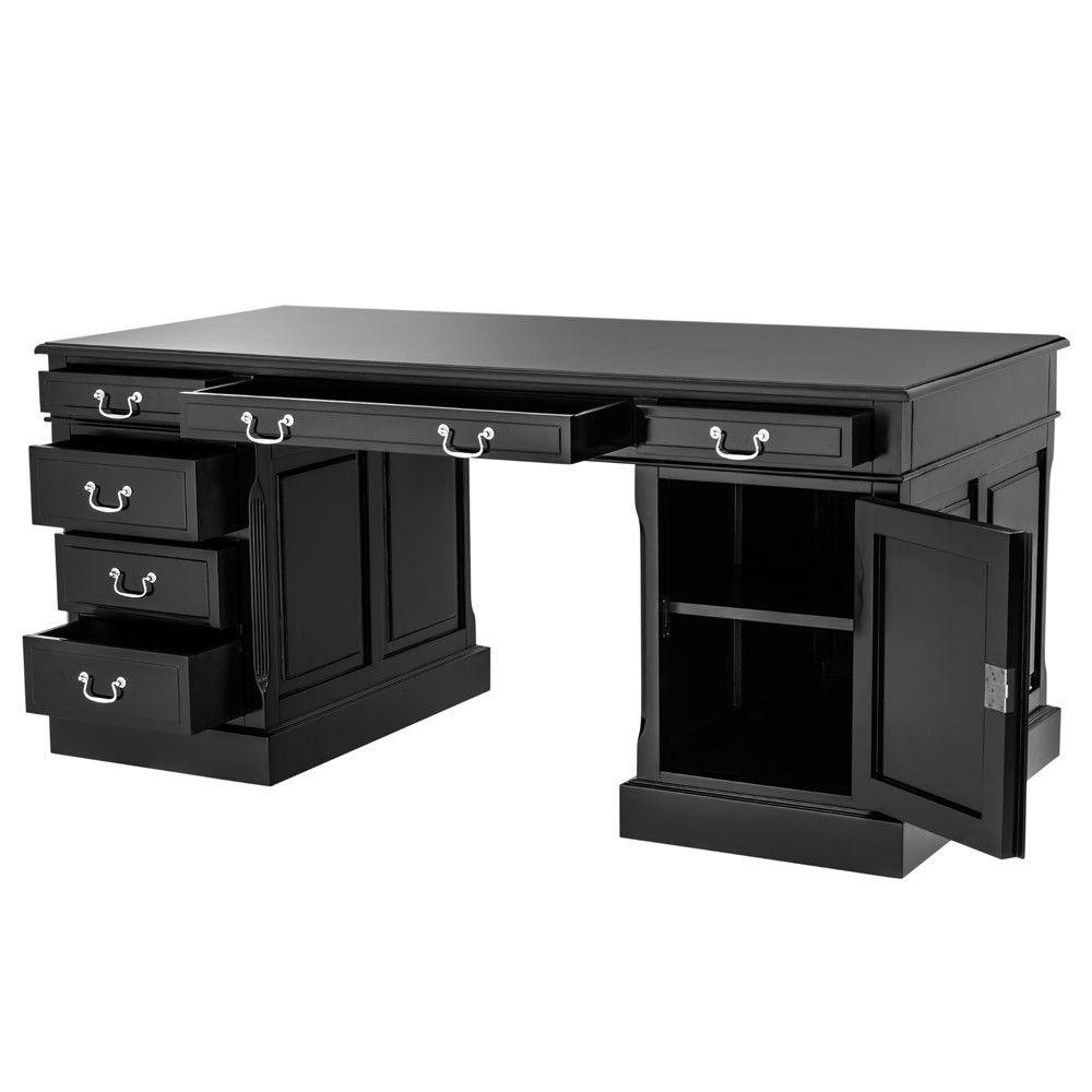 Eichholtz British Desk Black Classic Desk With Black Finish