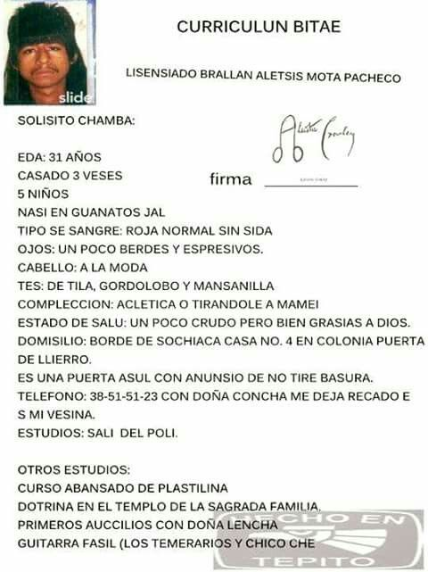 CURRICULUN BITAE jajajajajaja memes en español Pinterest - resume en espanol