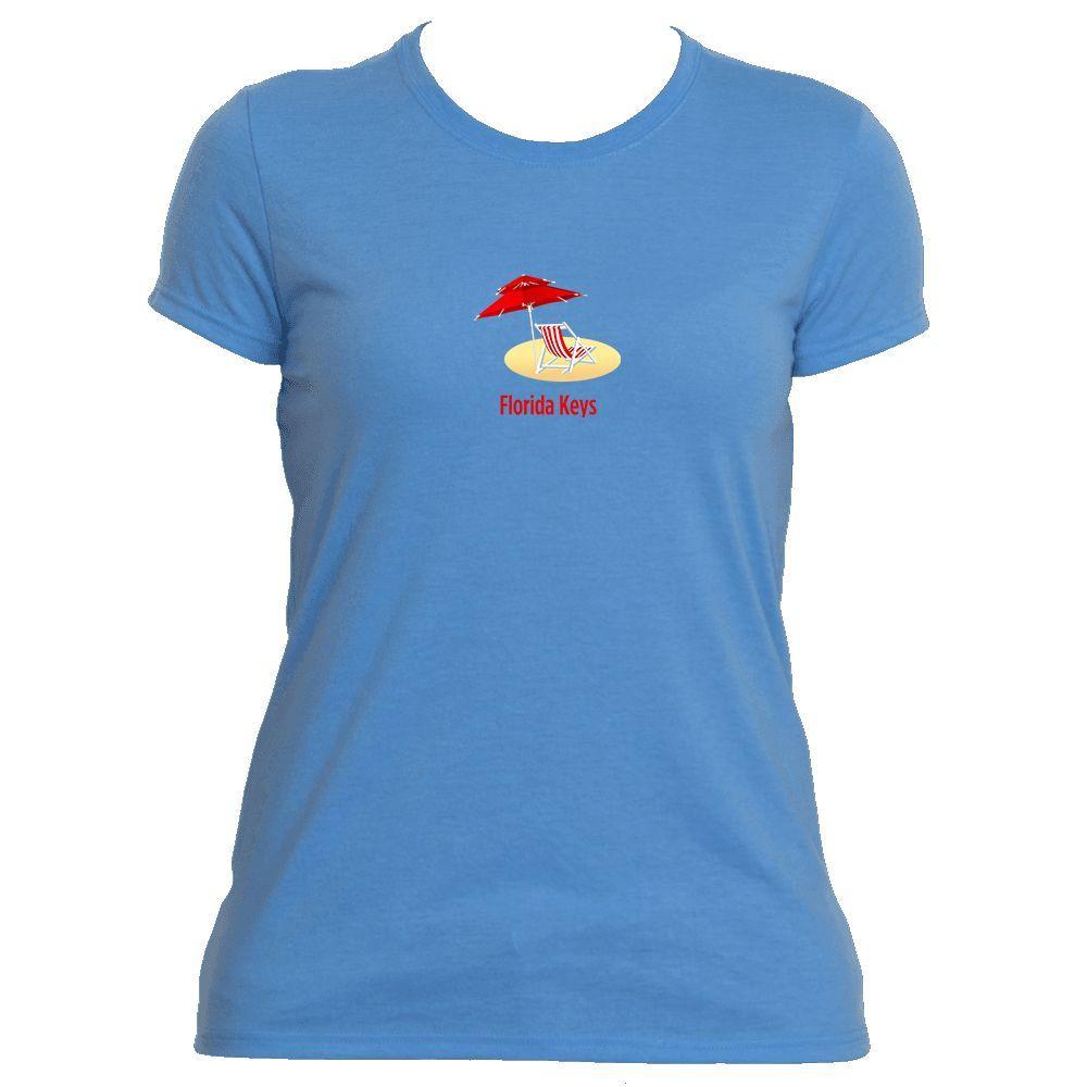 Florida Keys Beach Chair - Women's Moisture Wicking T-Shirt