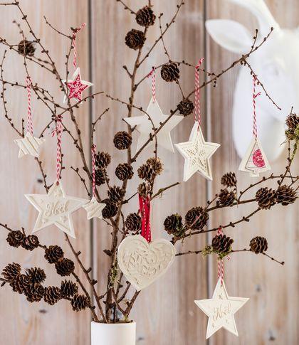 Deco Noel avec des branches de bois  inspiration photos Pommes de - Lire Un Plan De Maison