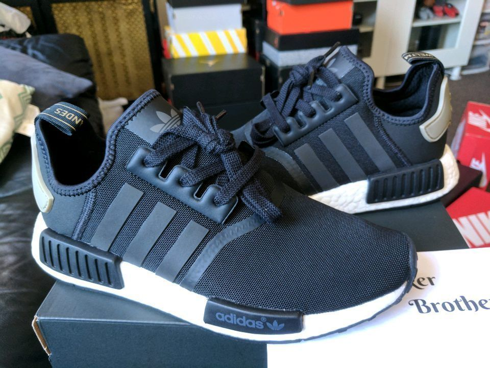 Adidas NMD_R1 Runner Nomad Boost Core Black Trace Cargo Trail Olive White  BA7251 · Adidas RunnersAdidas Nmd R1TrailMen's ...