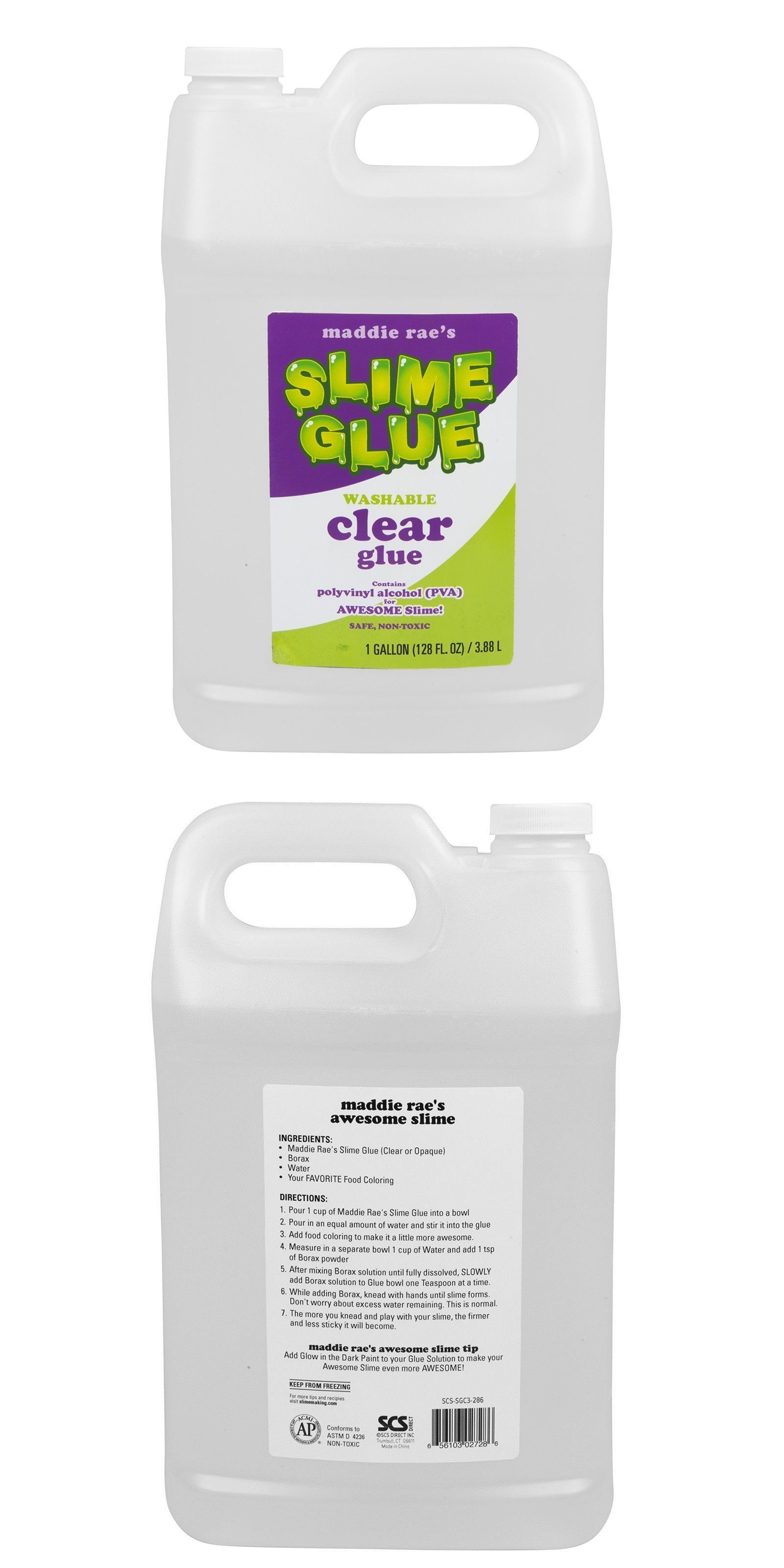 Glues and Pastes 161586: 1 Gallon Slime Making Clear Glue Non Toxic ...