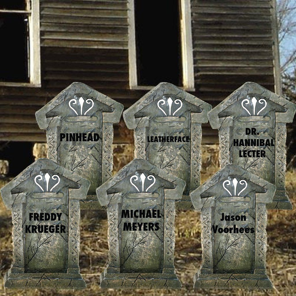 Halloween Yard Decoration - Serial Killer Tombstones Products - Halloween Yard Decorations
