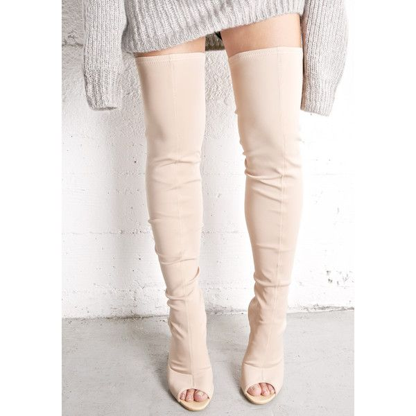 Liked Nude Thigh On High Boots65❤ Polyvore Open Toe 8nwkN0XOP