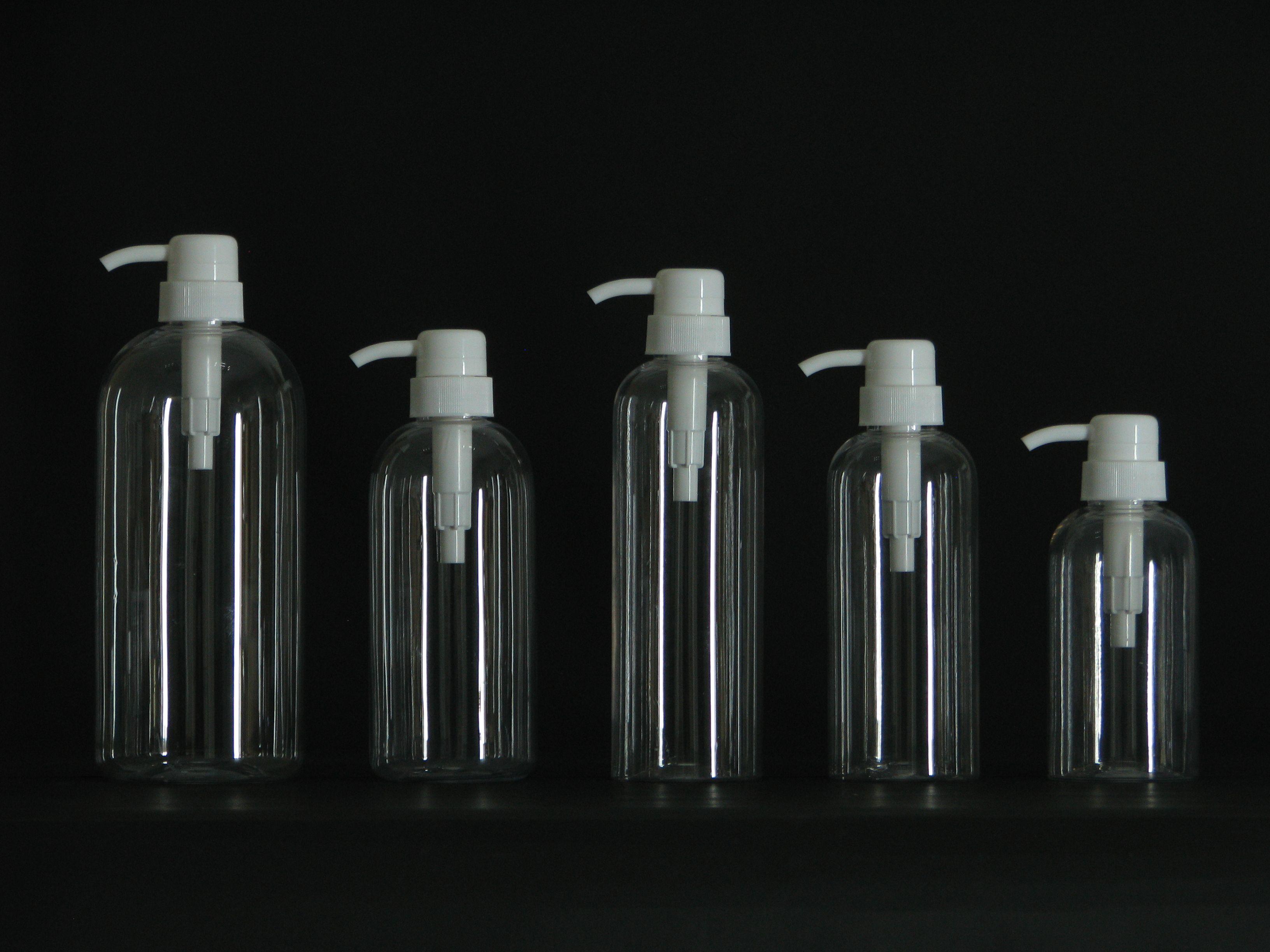 500ml Round Clear Plastic Lotion Bottle Pet Shampoo Bottle