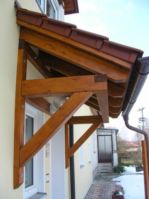 Canopy Made Of Wood Shed Roof Portico Awning Porch Roof Design Roof Design Canopy
