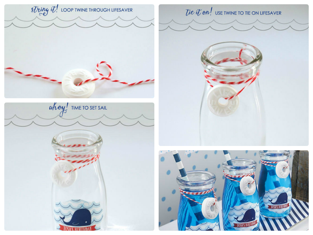 """Create """"whale water"""" by serving blue Hawaiian punch in these cute ..."""