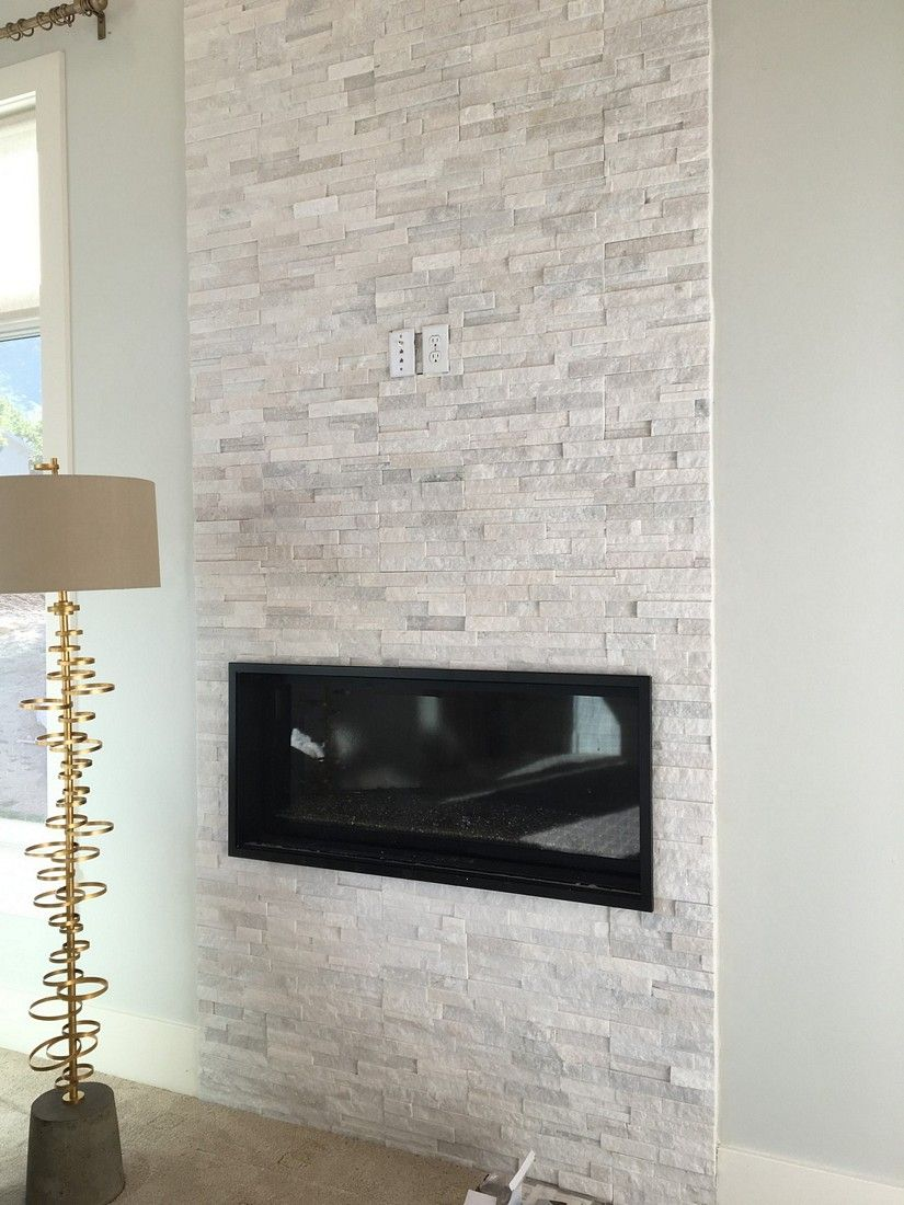 Utah Valley Parade of Homes 2016 Fireplace. Modern Drystacked ...