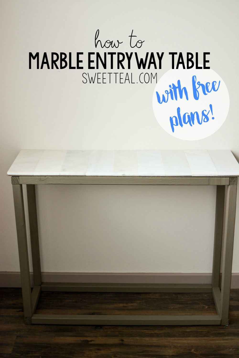 How To Make A Marble Entryway Table Entryway Tables Marble
