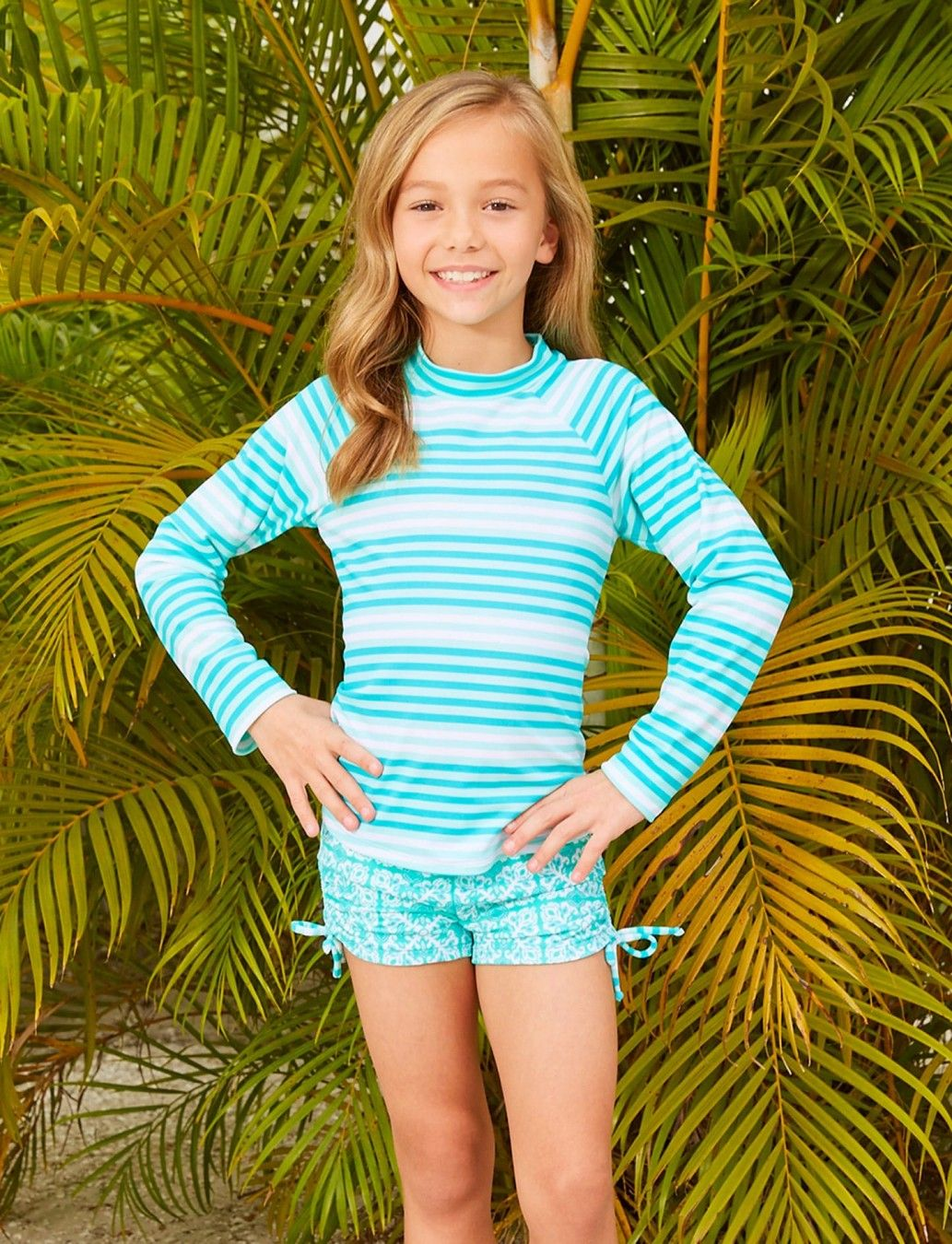 b70b5da6ac81 Striped Rashguard Swim Set