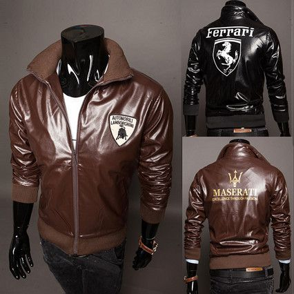 Men Luxury Auto Brand Designer Leather Jacket . Shop Now At http ...