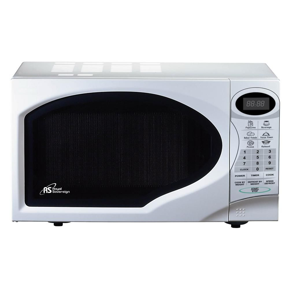 Royal Sovereign 0 7 Cu Ft Countertop Microwave In White