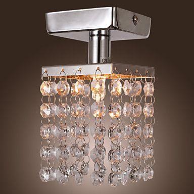 Mini Semi Flush Mount In Crystal Chrome Finish Usd 39 99 Crystal Ceiling Light Ceiling Lights Crystal Pendant Lighting