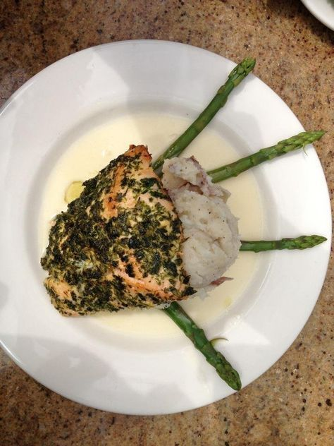 Cheesecake Factory Herb Crusted Salmon #cheesecakefactoryrecipes Cheesecake Factory Herb Crusted Salmon #cheesecakefactoryrecipes