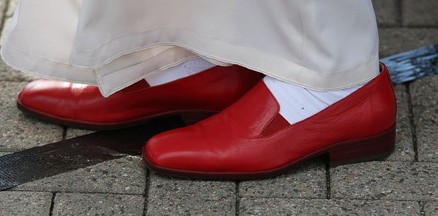 The Red Shoes | The Pope's red shoes | | Jen on the EdgeJen on the
