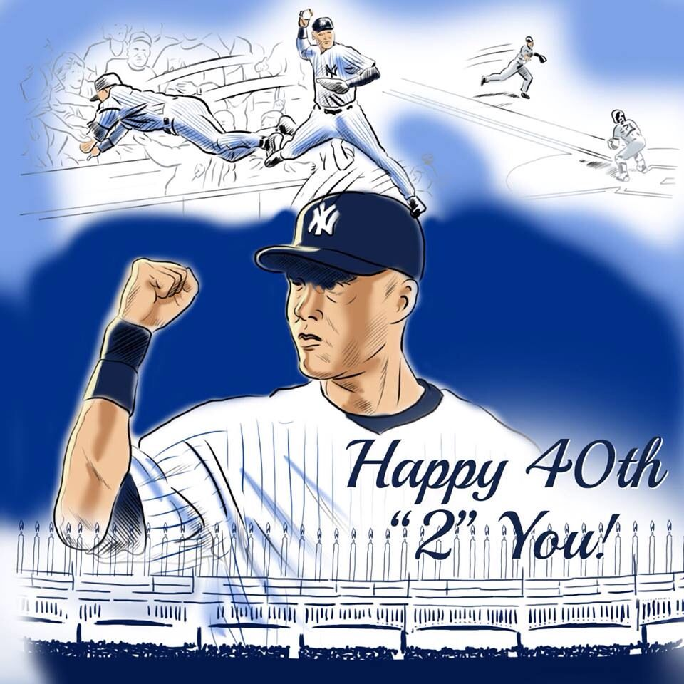 Happy 40th Captain New York Yankees Stadium Yankees New York Teams