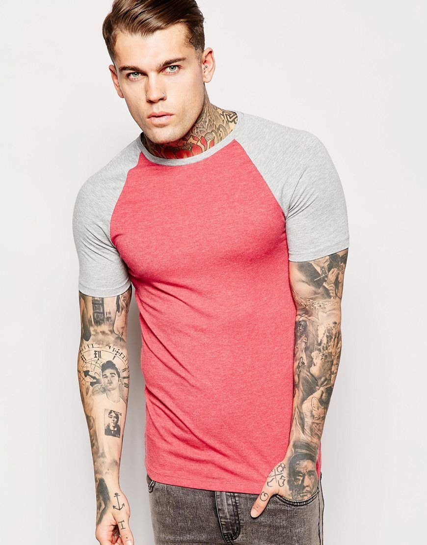ASOS Extreme Muscle Fit T-Shirt With Stretch And Contrast Raglan Sleeves at  asos.com