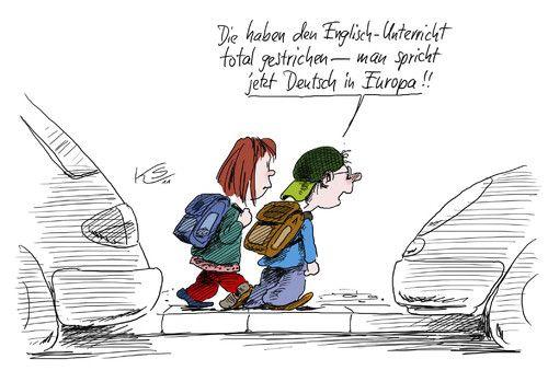 Cartoon: Deutsch (medium) by Stuttmann tagged cdu,kauder,englisch,deutsch