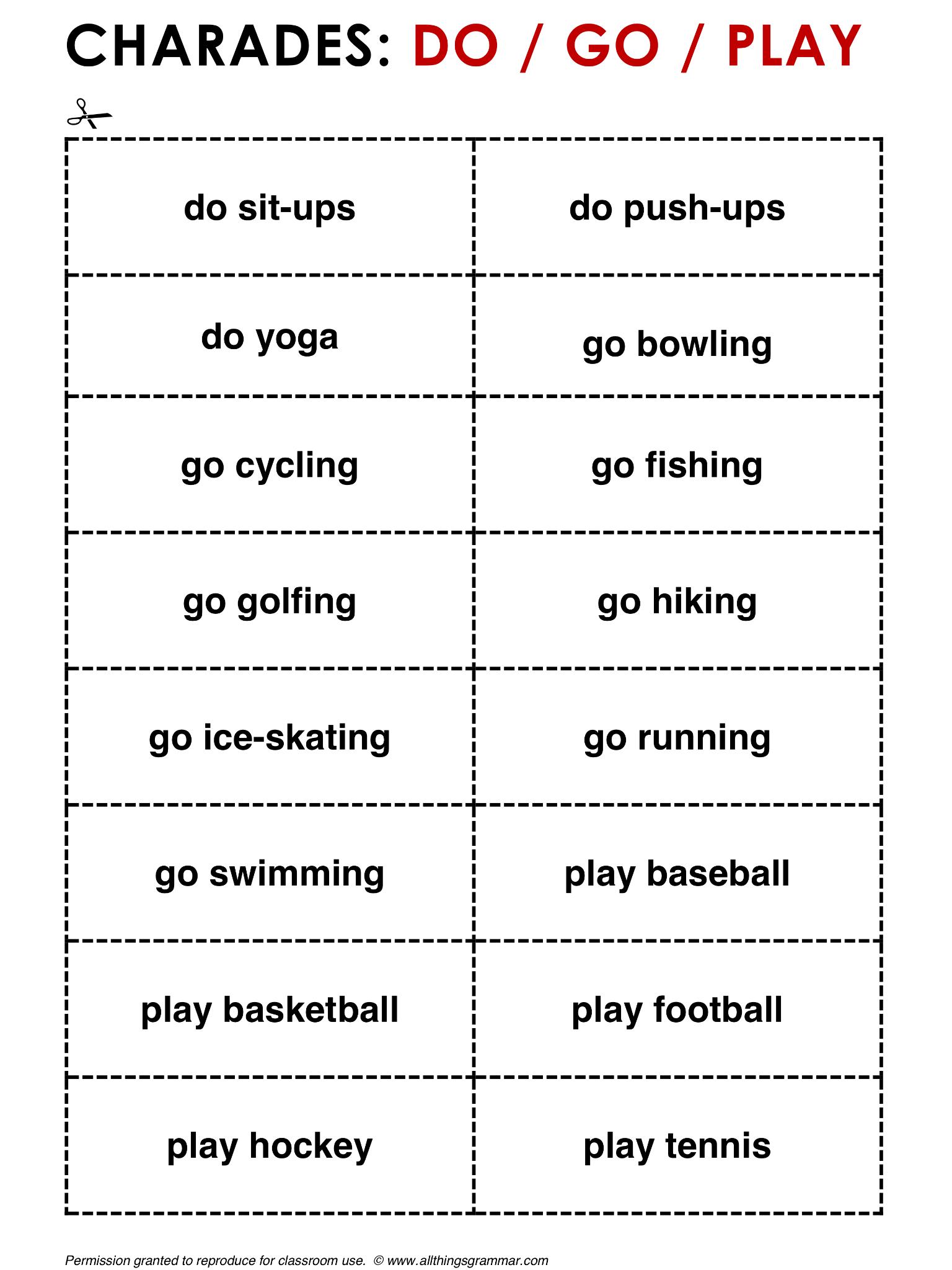 English Grammar Do / Go / Play www.allthingsgrammar.com/do--go--play ...