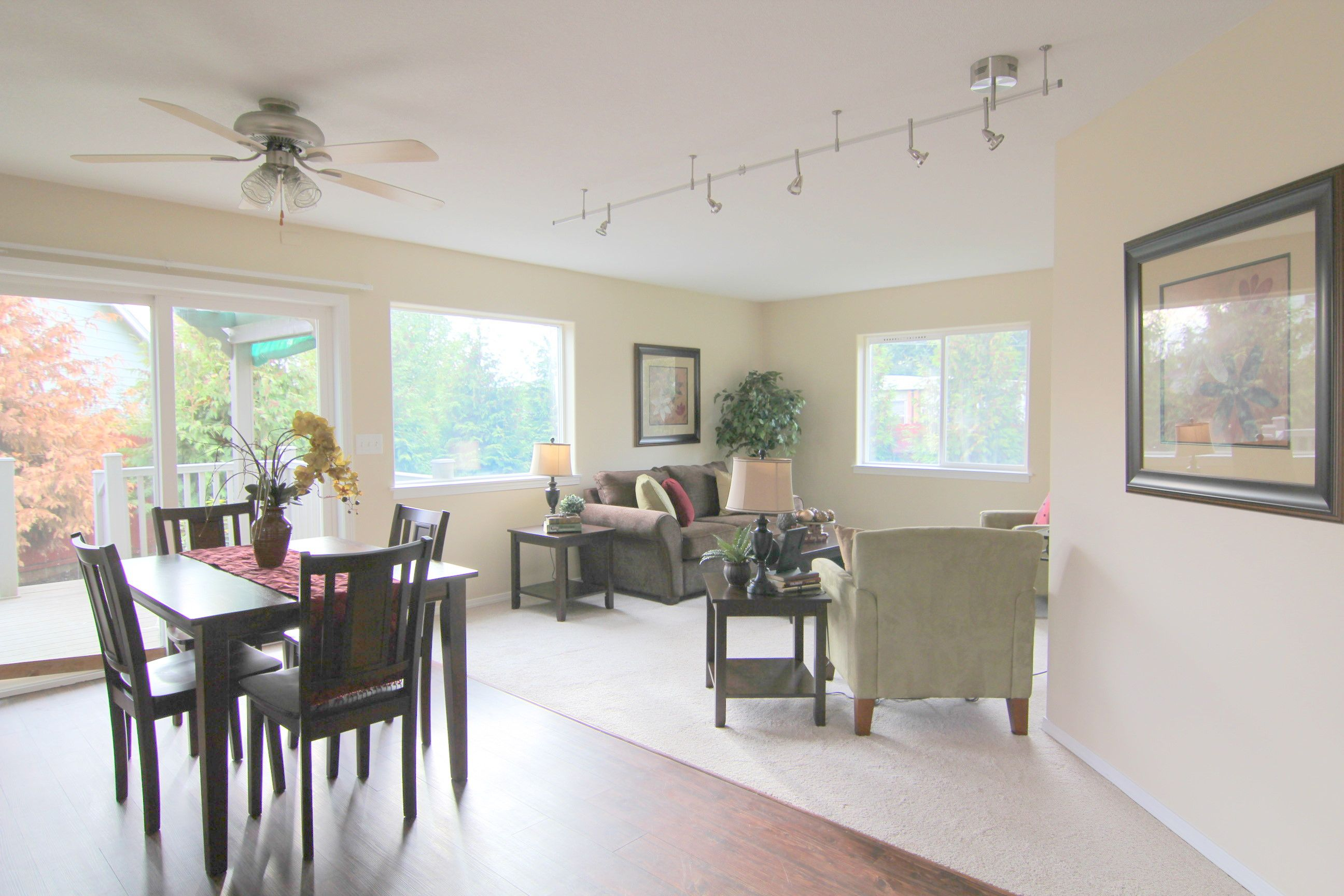 Sherwin williams maison blanche paint living room professionally staged by creative concepts - Paint colors for exterior walls concept ...