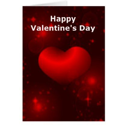 Red Heart ValentineS Day Card  Valentines Day Gifts Love Couple