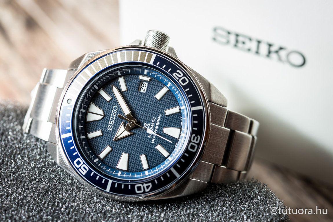 SEIKO Prospex Blue Samurai SRPB49K1 óra első nézet  5f6b2a01ea