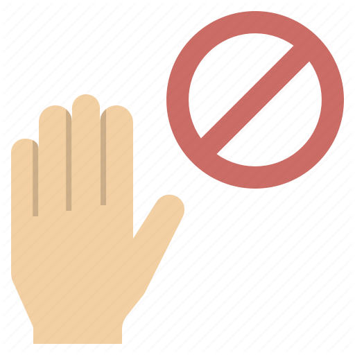 Forbidden Hand Pause Stop Touchless Icon Download On Iconfinder Vector Pattern Flat Icon Icon