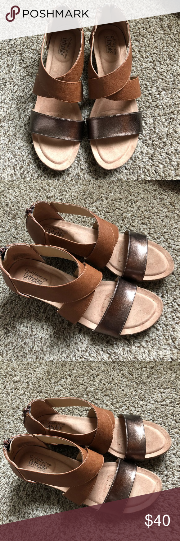 croft and barrow ortholite womens sandals