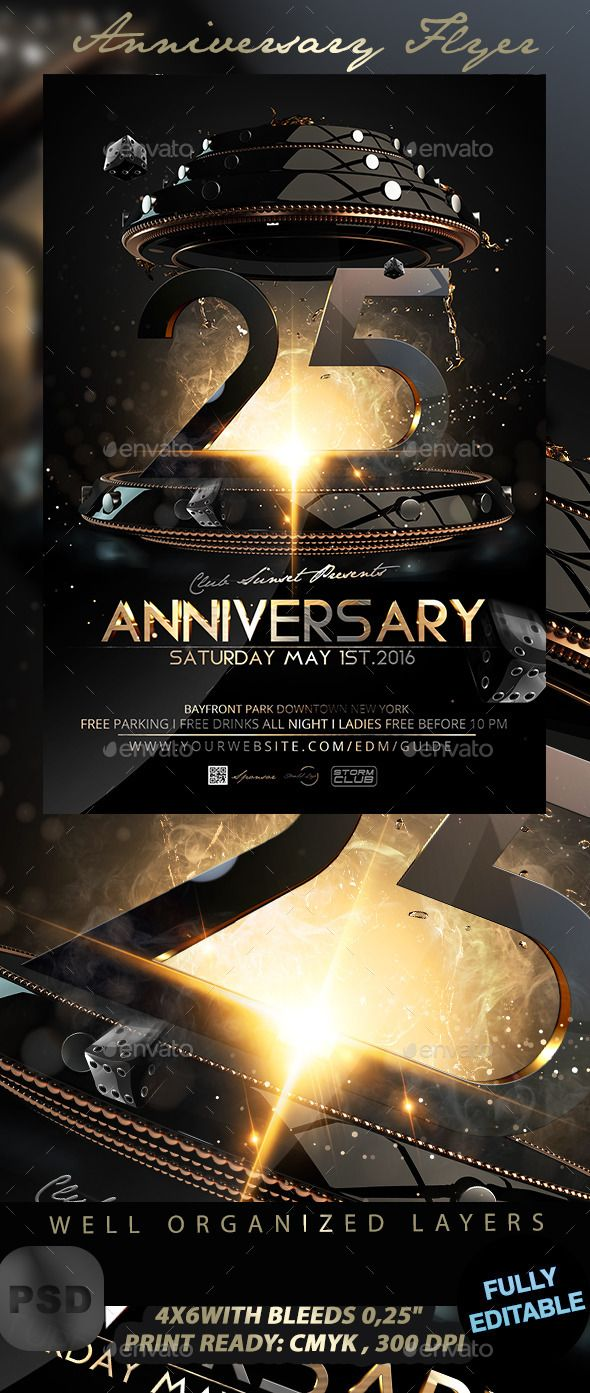 Anniversary flyer anniversaries font logo and flyer template anniversary flyer pronofoot35fo Choice Image