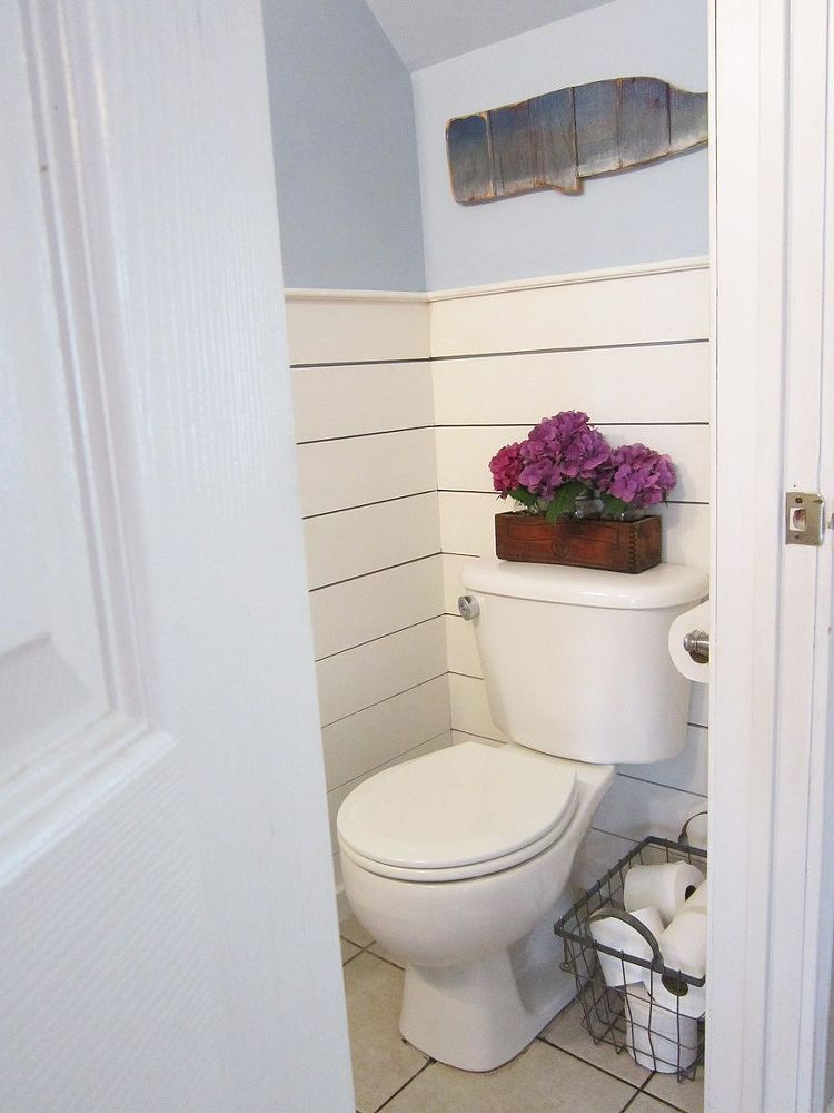 Tiny Half Bath Makeover With Images Tiny Half Bath Small Half